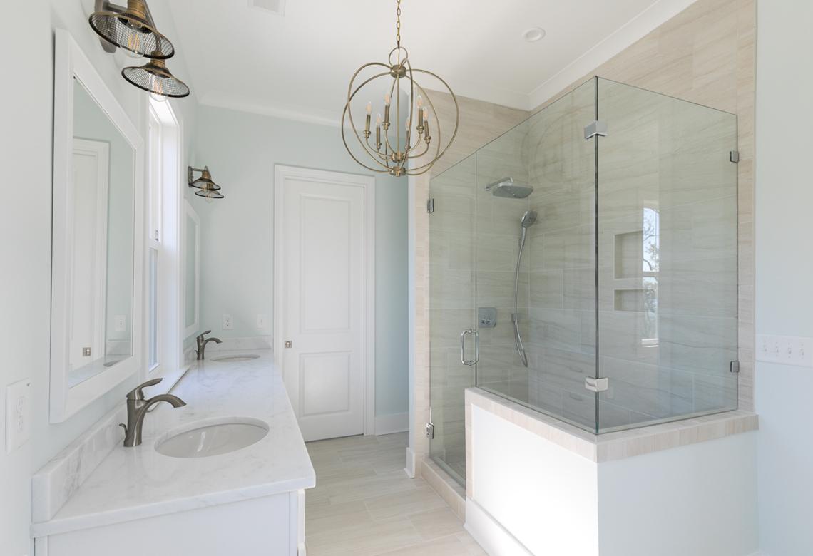 ROOKE Custom Home Builders Edisto Island SC Crystal Lake - Master Bathroom Shower