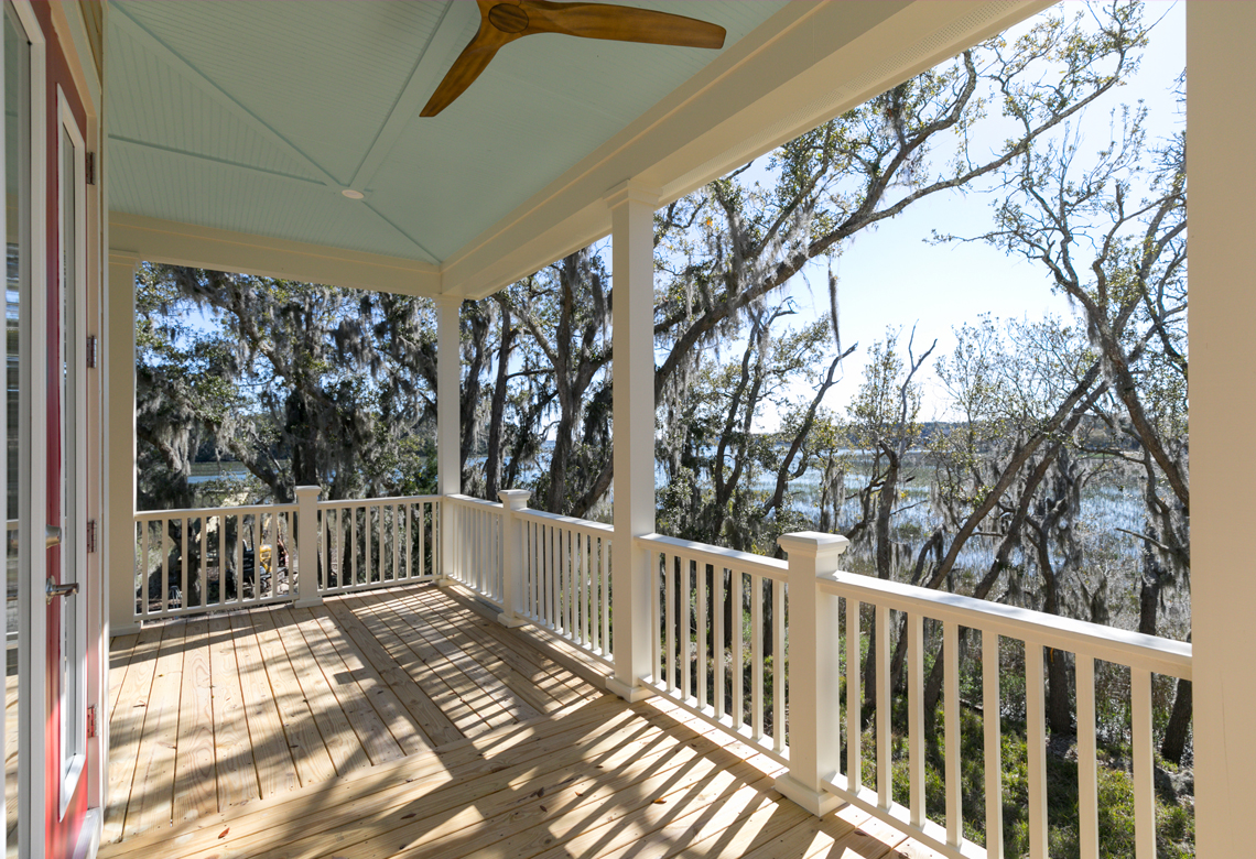 ROOKE Custom Home Builders Edisto Island SC Crystal Lake - Back Porch 2